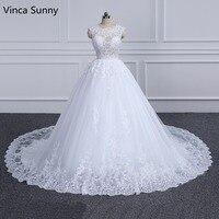Vinca Sunny Elegant Lace Princess Wedding Dress 2018 Beading Appliques Vintage Bride dresses Robe De Mariage Plus Size