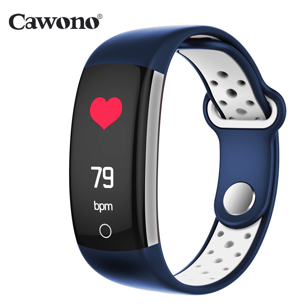 Cawono CW15 Monitor di Frequenza Cardiaca Fitness Braccialetto Intelligente Wristband di Pressione Sanguigna/Ossigeno Intelligente Del Braccialetto Della Fascia IP68 Orologio Da Polso Impermeabile