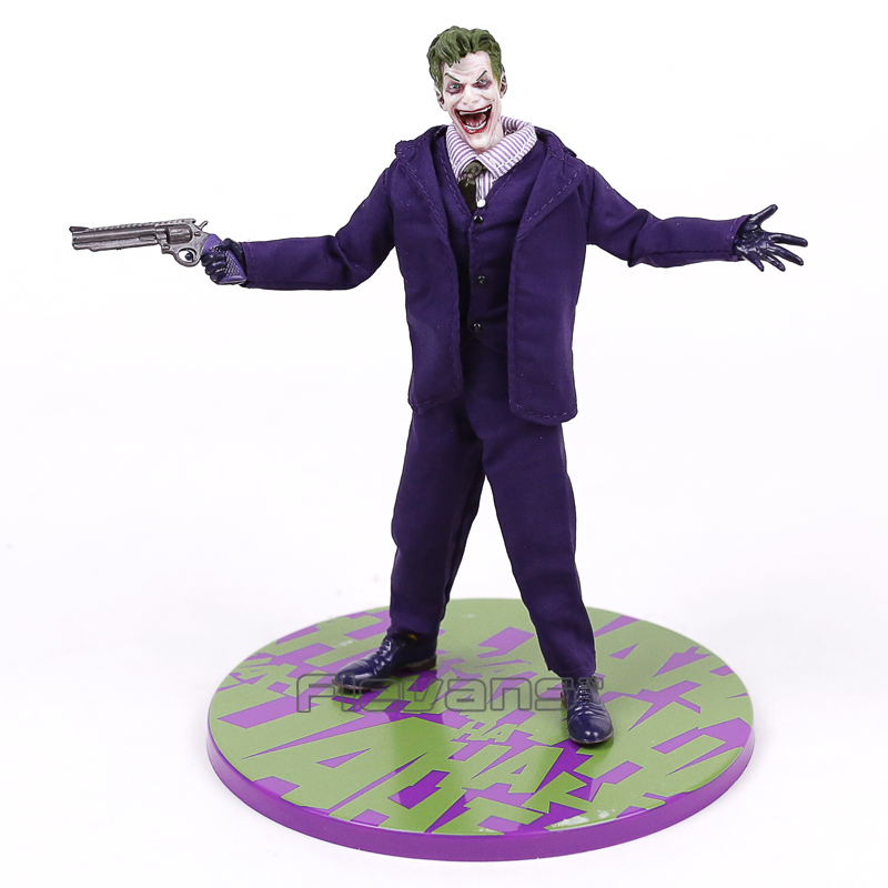 MEZCO Batman The Joker 1/12 Scale PVC Action Figure Collectible Model Toy (Real Clothing) 16.5cm new hot christmas gift 21inch 52cm bearbrick be rbrick fashion toy pvc action figure collectible model toy decoration