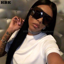 HBK 2018 Sexy Oversized Pilot Sunglasses Women Shades Retro