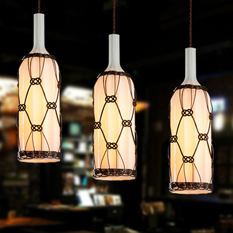 110v or 220v modern glass pendant light fixtures with white frosted 110v or 220v modern glass pendant light fixtures with white frosted glass bottle bar lighting in pendant lights from lights lighting on aliexpress aloadofball Gallery