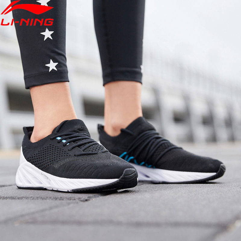 Li-Ning Women LN-ARC Cushion Running Shoes Mono Yarn LiNing Breathable Sport Shoes Sock-like Sneakers ARHP048 XYP923Li-Ning Women LN-ARC Cushion Running Shoes Mono Yarn LiNing Breathable Sport Shoes Sock-like Sneakers ARHP048 XYP923