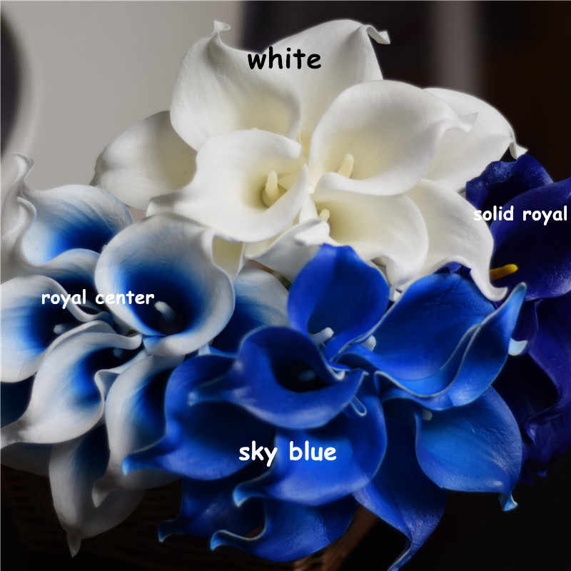 Detail Feedback Questions about Blue collection Calla Lilies