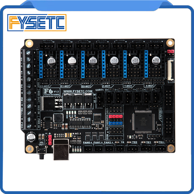 FYSETC F6 Board ALL-in-one Electronics Solution For 3D Printer CNC Devices Up to 6 Motor Drivers With easy Micro-steps setup