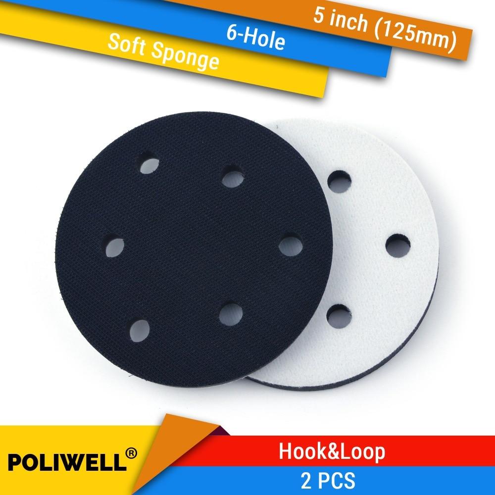6/'/' 6-Hole Soft Interface Pad Hook /& Loop Soft Foam Disc Protecting Sanding Disc