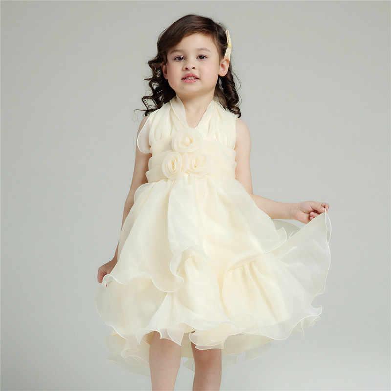 Vestido Formal De Niña Vestido De Flores Amarillas De Luz Para Niñas 2019 última Ropa Para Niñas De 2 3 4 5 6 8 10 Años Akf164058