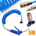 New Dust Blows Hose Tool  Set Air Duster 5m Recoil Hose Multi Truck Dust Blower Clean 5.5mm Steel Nozzle Blower Spray Tool Kit