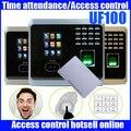 Бесплатное программное обеспечение и SDK Распознавание лиц время и посещаемость UF100 лицо + fingerprin запись времени с ID кард-ридером/клавиатурой