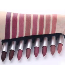 Hot Sales Waterproof Nude Matte Lipstick 1PCS 8 Colors Lip Makeup Stick Pencil Long Lasting Tint Sexy Dark Red Beauty