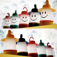 Pet tent tent lantern necessary children's creative baby smiling face light portable small night light leds battery