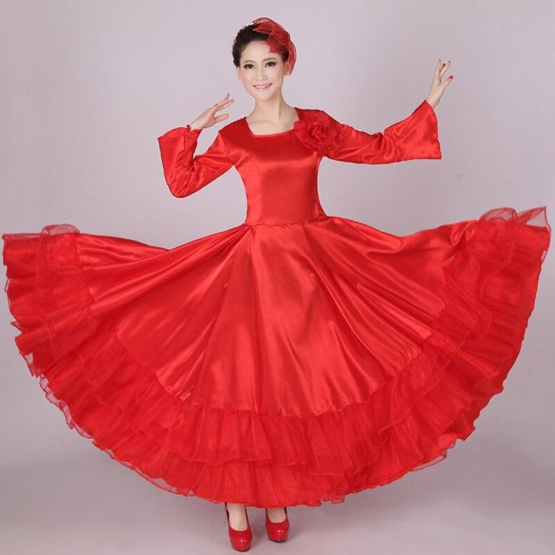 Flamenco Kjole Kostume Ballroom Kjole Kvinder Kor Kjole Spansk Dansedragt Dropshipping