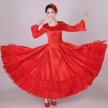 Flamenco Dress Costume Ballroom Dress Women Chorus Dress Spanish Dance Costume Dropshipping