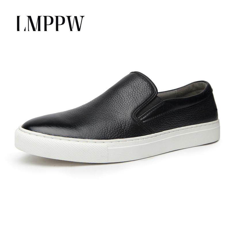 Black White Men Loafers Genuine Leather Casual Shoes Fashion Brand Handsome Men Flats Shoes Slip on Breathable Moccasins 2A cbjsho british style summer men loafers 2017 new casual shoes slip on fashion drivers loafer genuine leather moccasins