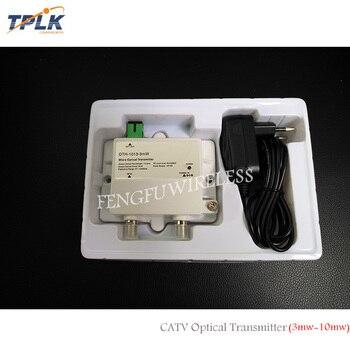 2018 Venta caliente micro Fibra óptica 10 MW APC SC CATV 1550nm mini FTTH transmisor óptico con 12 V potencia suministro