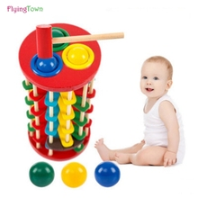 FlyingTown Educational wooden math toys for children 3 years old kids mathematics montessori Educational toys toddler baby toy стоимость