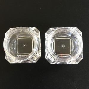 Image 2 - 100 pçs/lote 5g frascos de plástico transparente frascos creme forma diamante amostra garrafa 5ml 0.17oz garrafas vazias cosméticos recipiente bot01