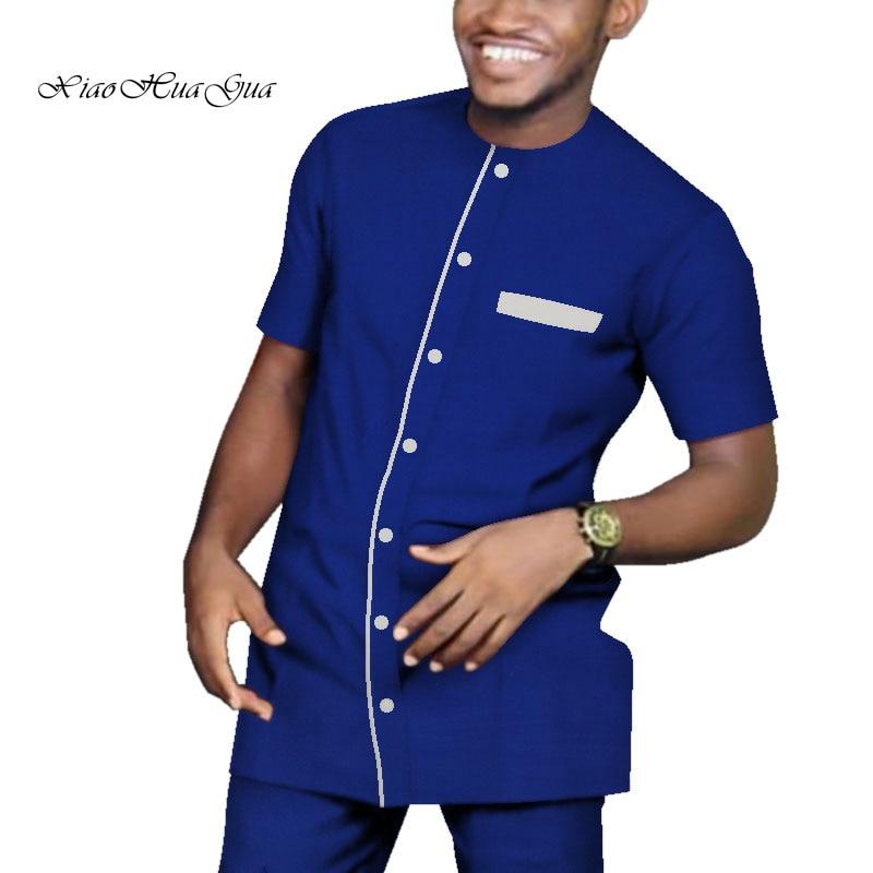 Impression traditionnelle africaine Dashiki pour hommes haut décontracté t-shirts et pantalons pantalon ensemble grande taille vêtements africains hommes ensemble WYN713