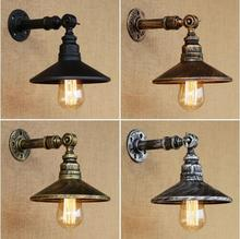 цена на Rustic Retro Water Pipe Loft Industrial Vintage Wall Lamp Pipe Light Fixtures For Dinning Room Edison Wall Sconce Apliques Pared