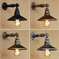 Rustic Retro Water Pipe Loft Industrial Vintage Wall Lamp Pipe Light Fixtures For Dinning Room Edison Wall Sconce Apliques Pared