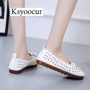 Image 2 - Brand Ksyoocur 2020 New Ladies Flat Shoes Casual Women Shoes Comfortable Round Toe Flat Shoes Spring/summer Women Shoes X05