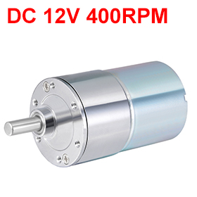 цена на Uxcell(R) 1Pcs 12V DC 400RPM Gear Motor Electric Micro Speed Reduction Geared Motor Eccentric Output Shaft