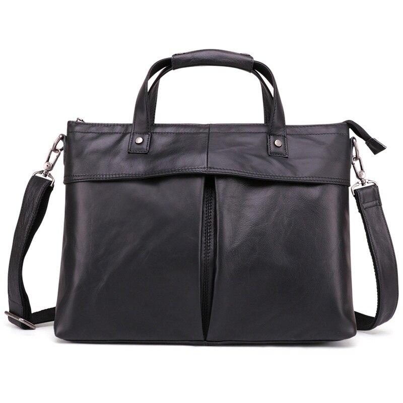 New Design Genuine Leather Men 14 Laptop Bags Business Casual Briefcase Handbags Portfolio Shoulder BagsNew Design Genuine Leather Men 14 Laptop Bags Business Casual Briefcase Handbags Portfolio Shoulder Bags