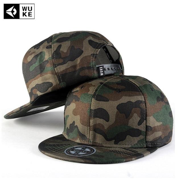 WUKE  Camo Snapback Caps New Flat Designer Adjustable Hip Hop Hats For Men  Women Camouflage Baseball Bboy Cap Style Unisex 146b734c25b