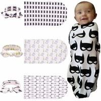 2018 New Infant Baby Girl Boy Newborn Fashion Supreme Cartoon/Tree/Arrow Headband +Blankets Sets Clothes Photography Props Hot