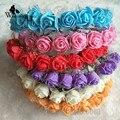 WomensDate 2016 Hot Sale Nupcial Guirlandas de Flores de Espuma Flor Rosa Banda de Cabeça Coroa de Flores Boemia Acessórios Do Casamento Tiara
