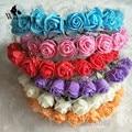 WomensDate 2016 Venta Caliente Nupcial Corona de Guirnaldas de Flores de la Flor de Rose de La Flor de la Venda Principal de Bohemia Diadema Accesorios de La Boda
