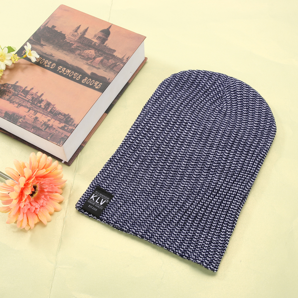 Unisex Skullies Winter Knitted Hat Male Beanies Cap Casual Solid Color Sets Headgear Hats For Men skullies