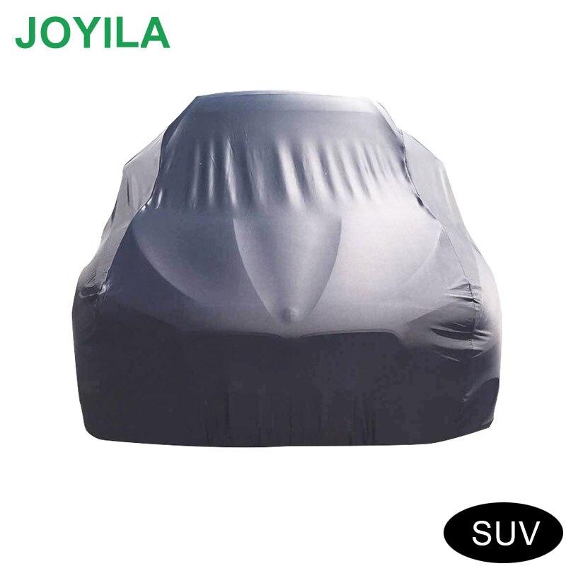 Joyila Waterproof Full Car Cover Rainproof Dustproof Sunscreen Snowproof High Quality All Black Cover Car For