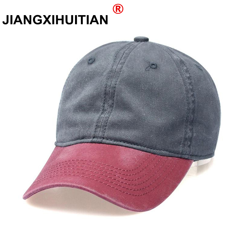 2018 High quality Washed Cotton Adjustable Solid color Baseball Cap Unisex couple cap Fashion Leisure Casual HAT Snapback cap