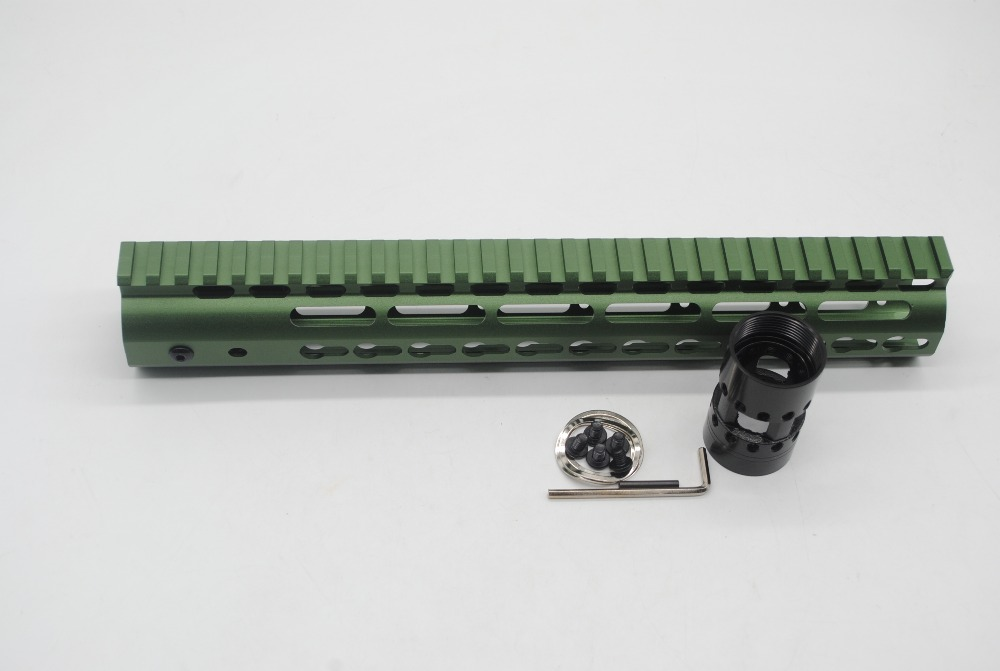 TriRock 12'' inch Olive Green Anodized Keymod Handguard Rail Free Floating Picatinny Mount System Fit .223/5.56/AR 15-in Hunting Gun Accessories from Sports & Entertainment    2
