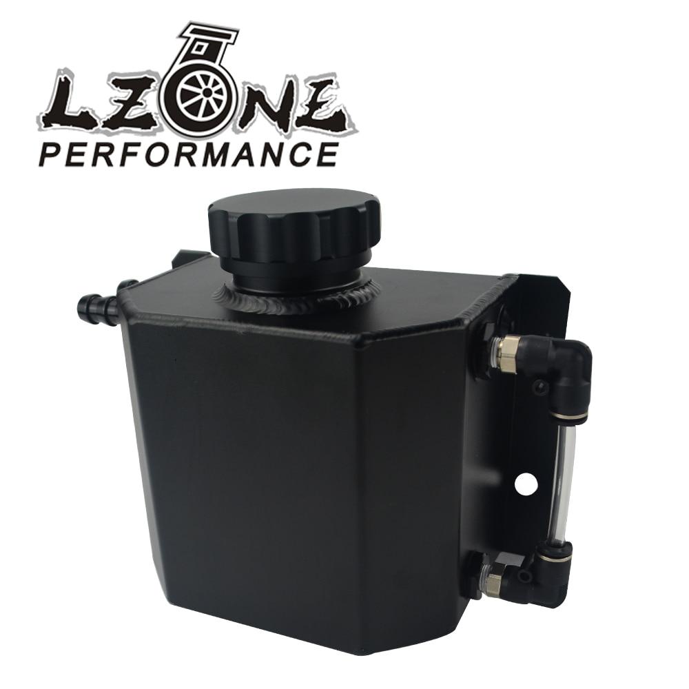 LZONE - Universal 1L Aluminum Oil Catch Can Reservoir Tank With Drain Plug Breather Oil Tank Fuel Tank JR-TK57 все цены