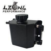 LZONE Universal 1L Aluminum Oil Catch Can Reservoir Tank With Drain Plug Breather Oil Tank Fuel Tank JR TK57