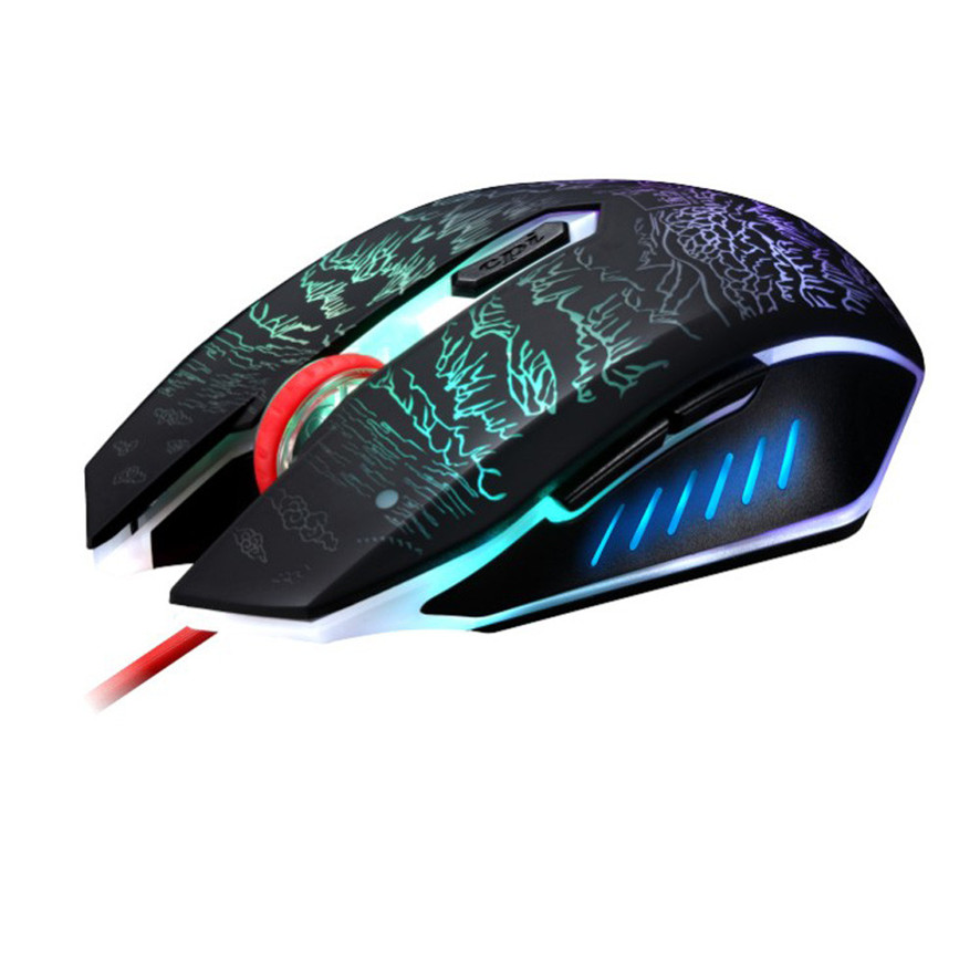 Best Price New Professional 2400DPI 6 Buttons Optical Usb Ergonomic Wired Gaming Mouse