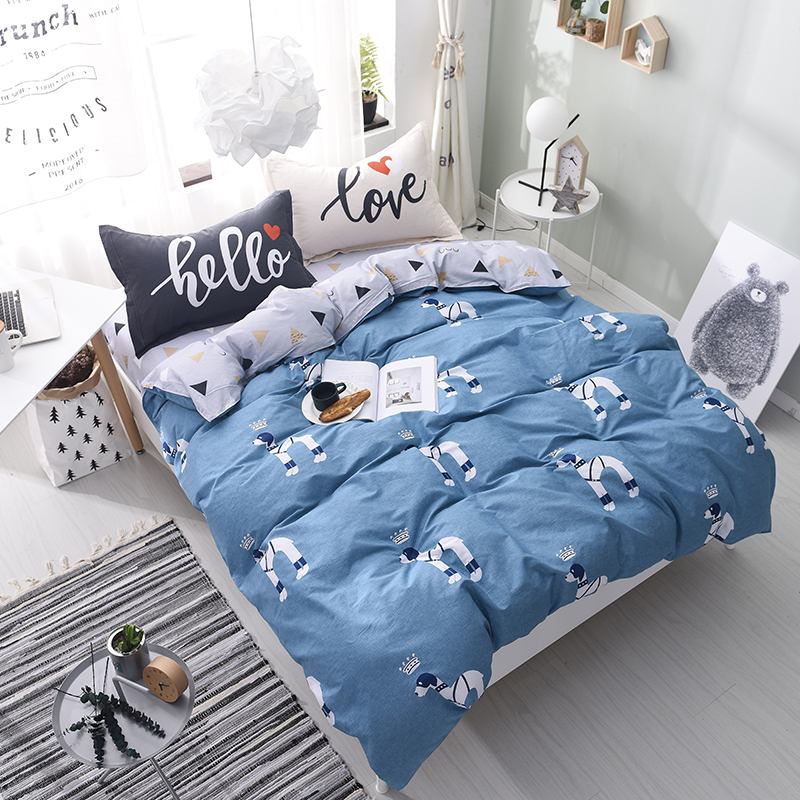 100% Cotton Soft Bedding Sets 4pcs Cartoon Pony Pattern Bed Linings Duvet Cover Bed Sheet Pillowcases Cover Set Full Queen Size100% Cotton Soft Bedding Sets 4pcs Cartoon Pony Pattern Bed Linings Duvet Cover Bed Sheet Pillowcases Cover Set Full Queen Size
