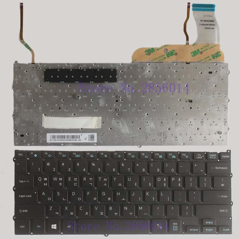 NEW KR FOR Samsung NP940X3G NP940X3F Korean laptop Keyboard Backlit without Frame laptop keyboard for acer silver without frame bulgaria bu v 121646ck2 bg aezqs100110