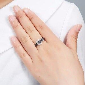 Image 2 - Hutang יהלומי חתונת טבעות טבעי חן ספינל 925 סטרלינג כסף חגורת צורת טבעת בסדר אבן תכשיטי עבור נשים בנות חדש