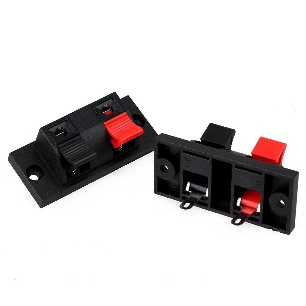 Double Jack Spring Clip Load Audio Speaker Cable Amplifier back ...