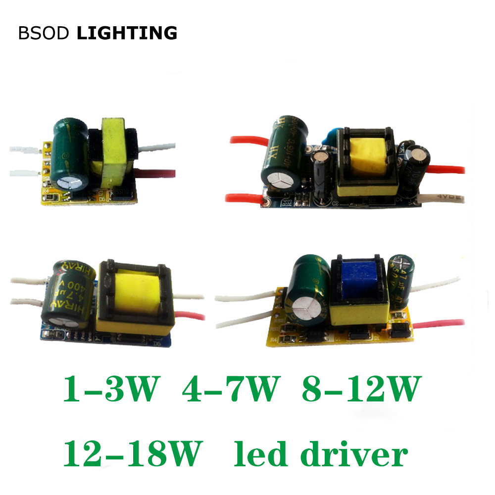BSOD Led Open Driver Transformer Power Supply 1W 3W 5W 7W 12W 18W 20W 30W 40W Inside Driver Input AC85-265V for Lighting lamp