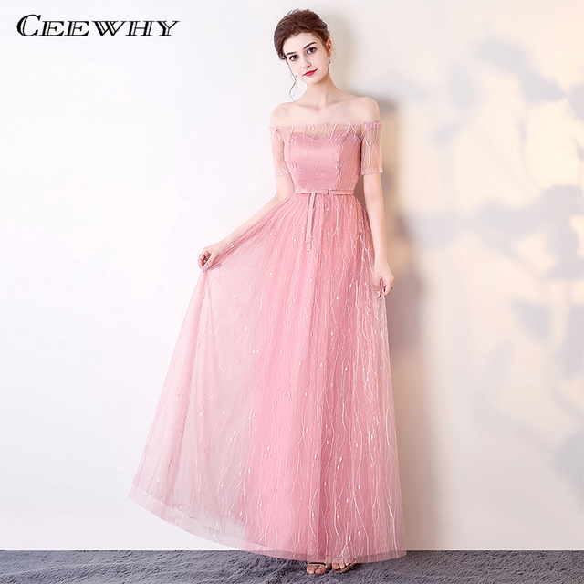 Us 43 08 40 Off Ceewhy Gray Bridesmaid Dresses Long For Wedding Guests Sister Party Formal Dress Plus Size Prom Dresses Brautjungfernkleid In