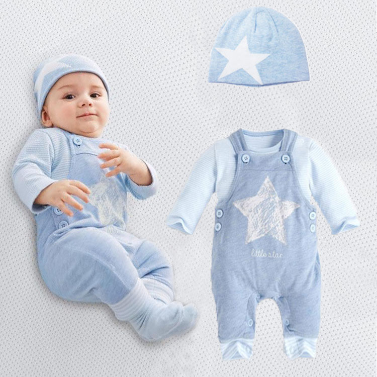 Baby rompers long sleeve cotton romper baby infant cartoon Animal newborn baby clothes romper pants 2pcs