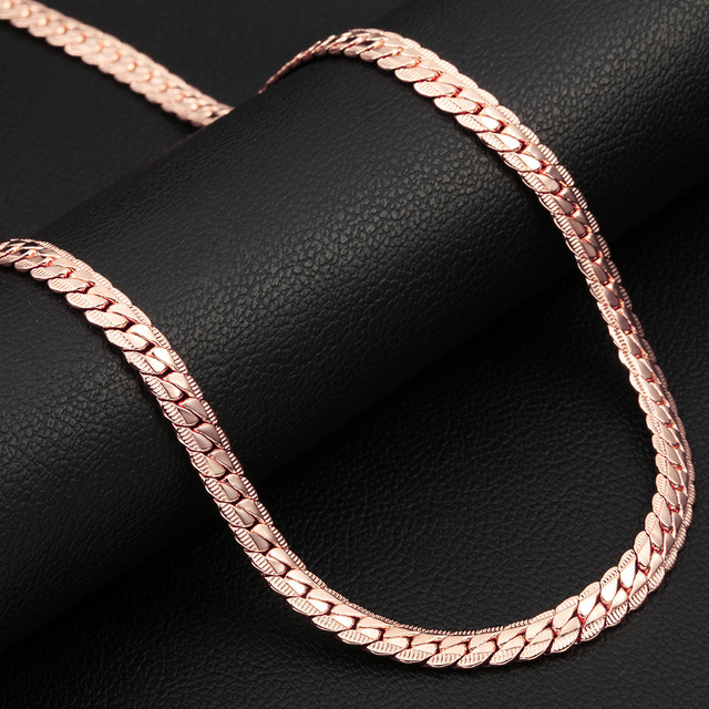 Trendy Rose Gold Filled Chain For MenWomen Jewelry Wholesale Stamp