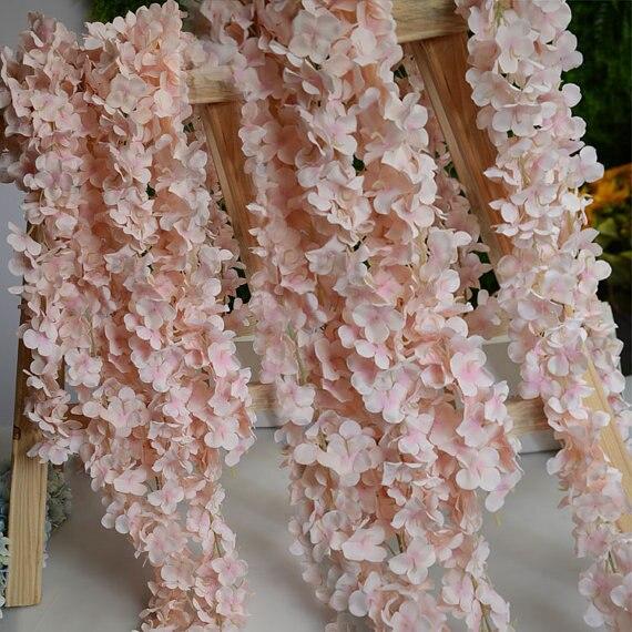 aliexpress com buy 5pcs artificial silk wisteria home garden