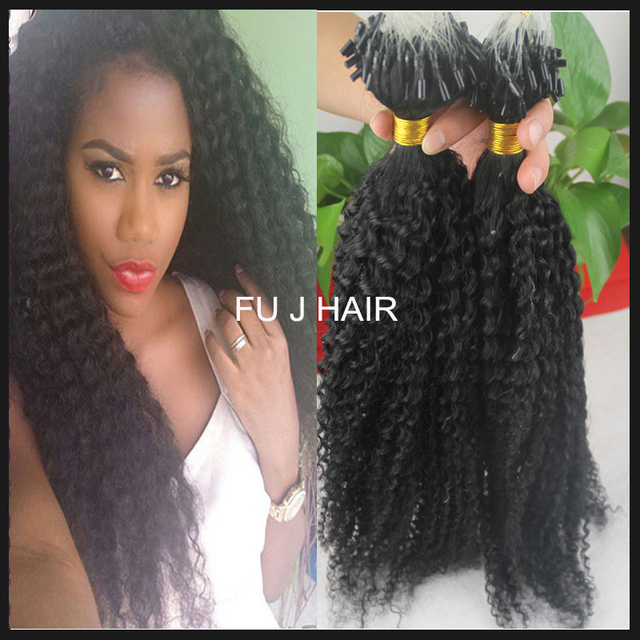 Wholesale cheap natural black micro loop ring hair extensions wholesale cheap natural black micro loop ring hair extensions unprocessed 100 brazilian afro kinky curly pmusecretfo Image collections