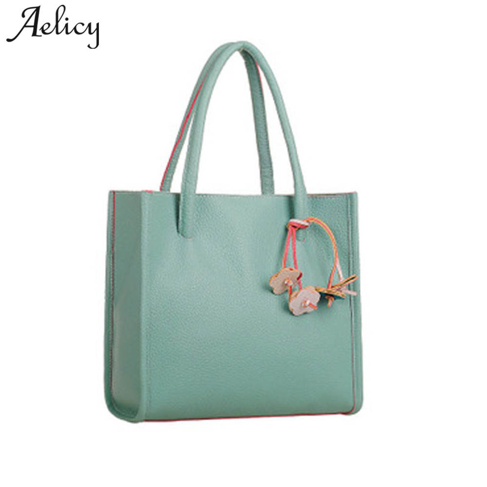 Aelicy PU Leather Handbags Big Women Bag High Quality Casual Totes Female Bags Trunk Flowers Shoulder Bag Ladies Large Bolsos