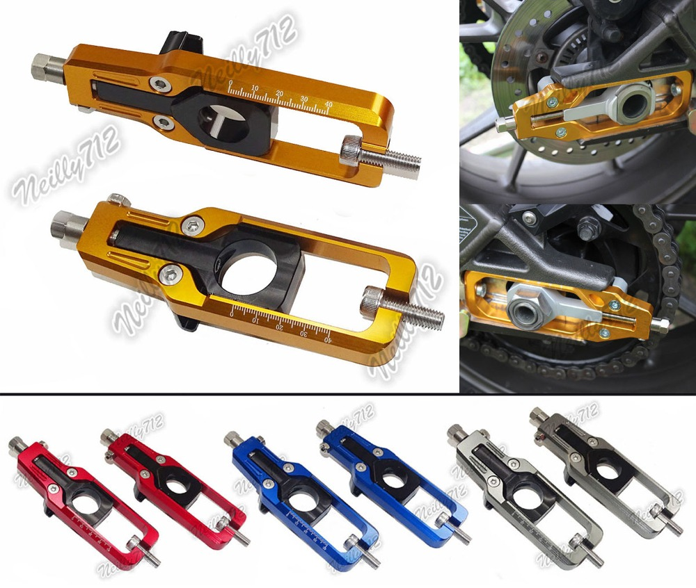 waase CNC Aluminum Chain Adjusters Tensioners Catena For Kawasaki Ninja ZX10R ZX 10R ZX1000 2011 2012 2013 2014 2015 2016 for kawasaki motorcycle chain adjuster tensioner autobike chain regulator ninja300 ninja 300 2013 2015 2016 2014