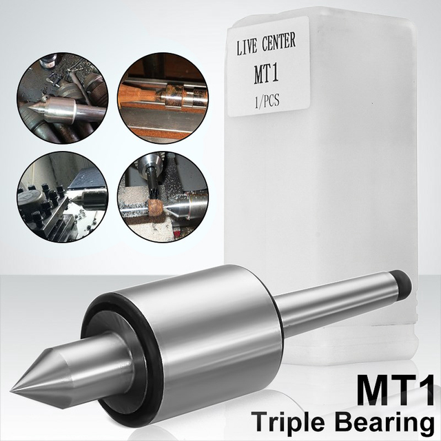 Mt1 Precision Rotary Live Center Taper Triple Bearing Lathe Medium Duty For High Speed Turning Cnc Work